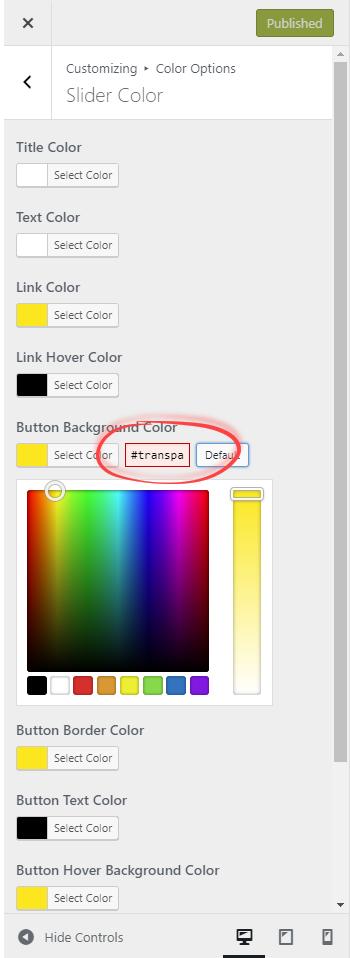 press Default button next to color